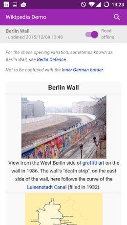 Wikipedia Offline Berlin Wall