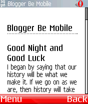 Blogger be mobile