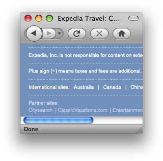 Expedia user switch-back