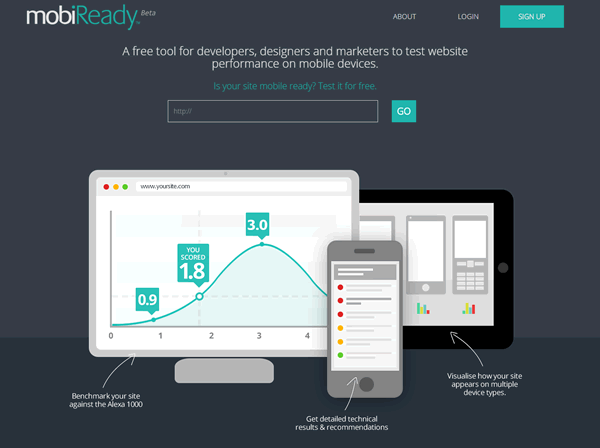 mobiReady Homepage