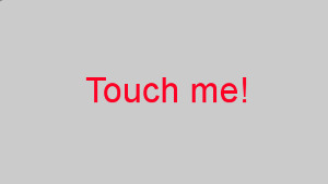 Touch inviting image