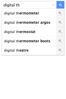 Google search autocomplete