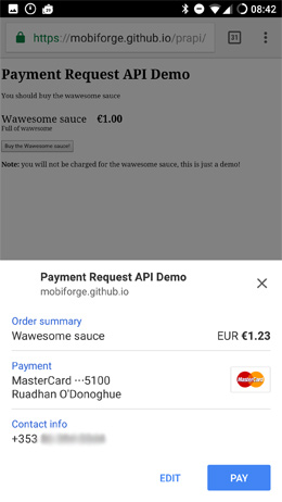 Payment request api no shipping option