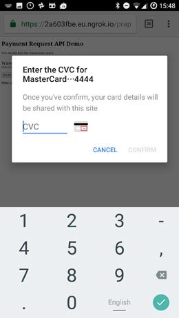 Verify CVC