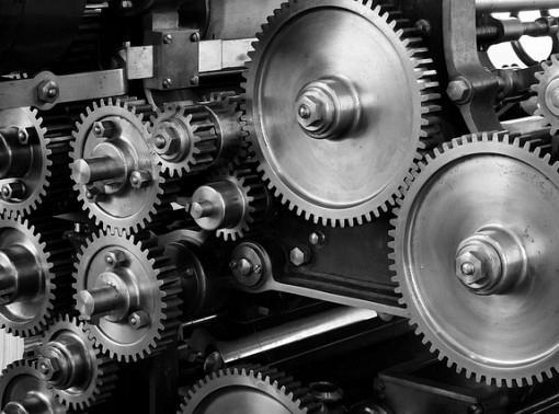 Machinery Mechanical Cogs Gears Machine