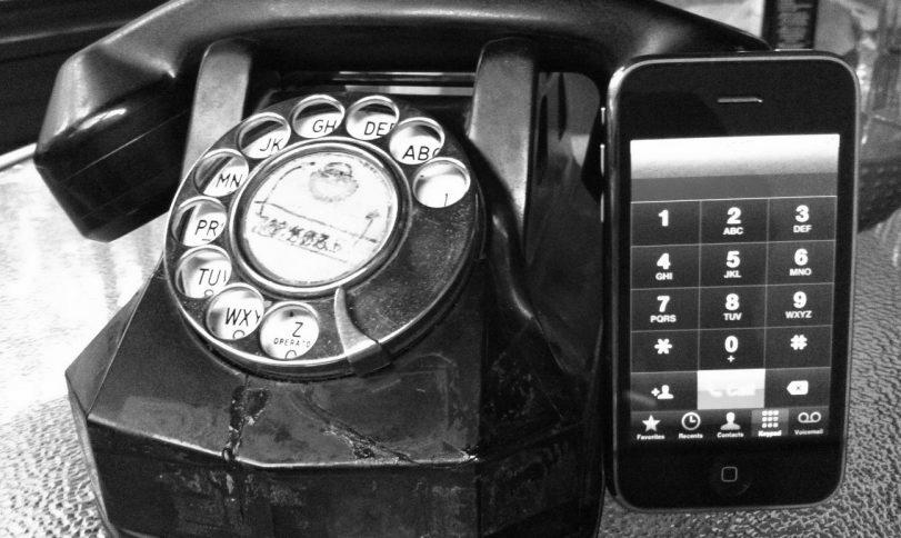 Old phone and iphone