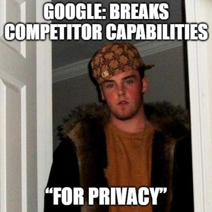 User-Agent meme: Google breaks competitor capabilities
